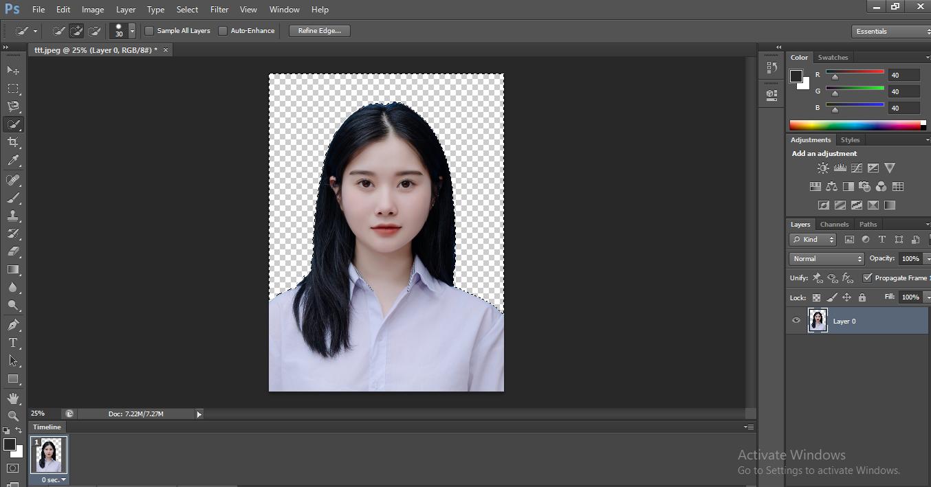 cách xóa phông nền bằng photoshop cs6