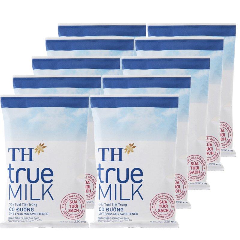 các dòng sản phẩm sữa tươi