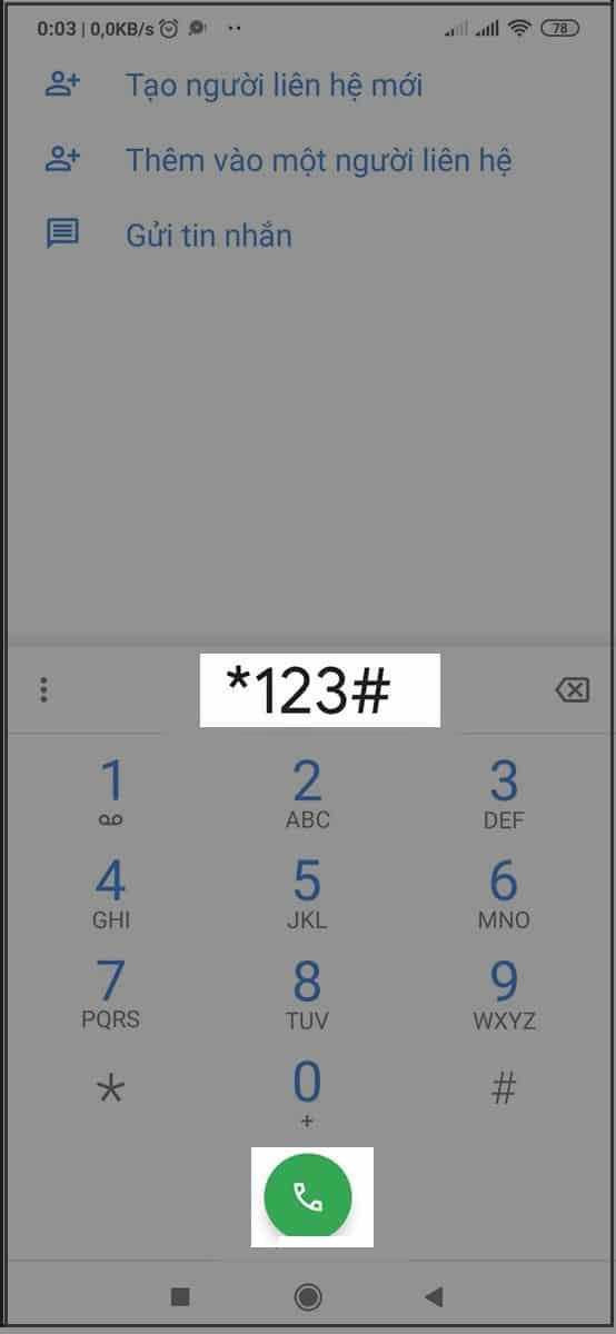 Nhập #123 để đăng ký 3G vina 1 ngày