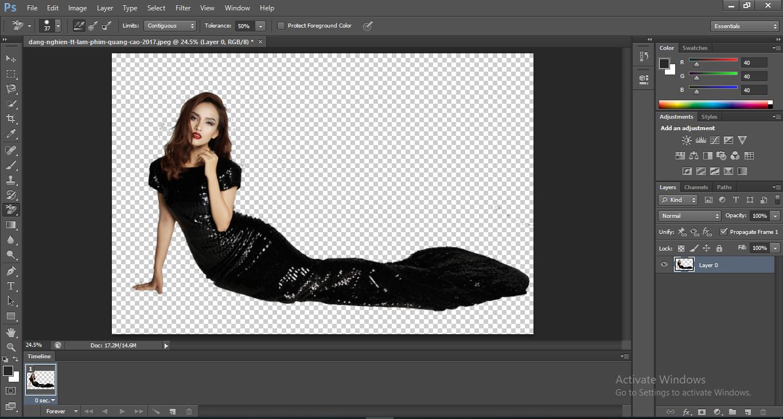 cách xóa nền bằng photoshop cs6