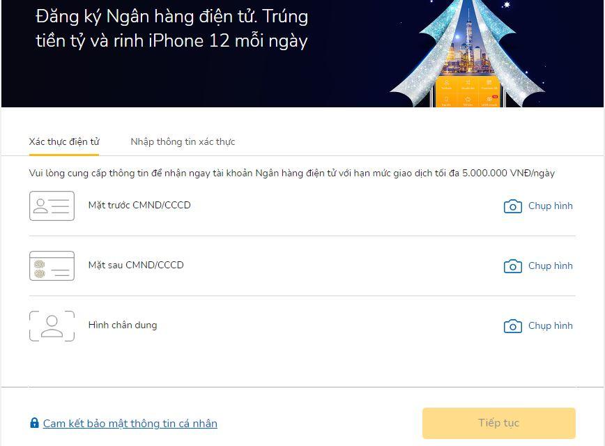 Người dùng dịch vụ internet banking VIB nên đăng ký trực tuyến tại nhà