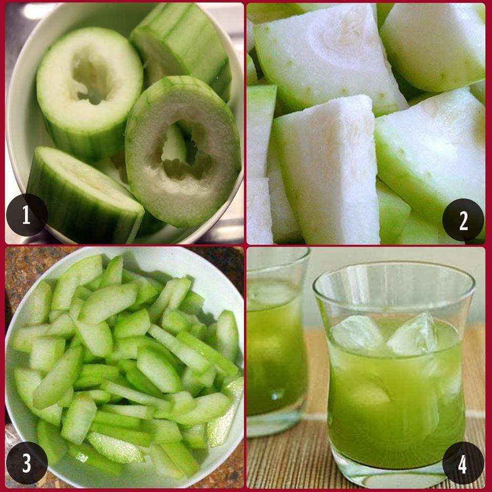 Các bước thực hiện nước uống giảm cân từ bí đao xanh