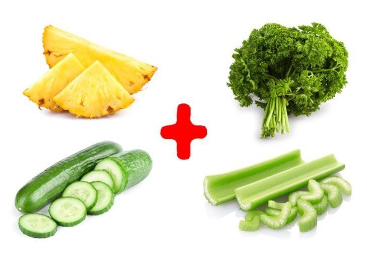 Các loại thực phẩm xanh làm tăng hương vị nước uống giảm cân