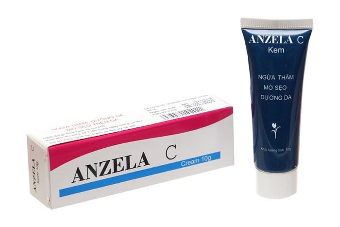 Anzela Cream công dụng chống oxy hóa trị sẹo thâm do mụn